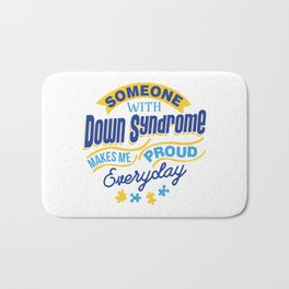 Down Syndrome Awareness Support Trisomy 21 Gift Bath Mat