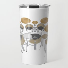 White Drum Kit Travel Mug