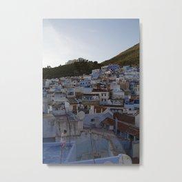 Chefchaouen Rooftops Metal Print