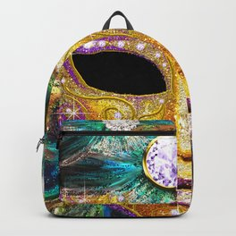 Golden Carnival Mask Backpack