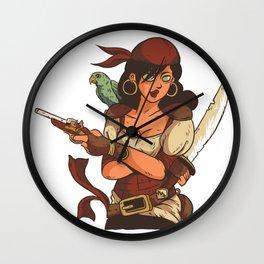 Female Pirate Wall Clock
