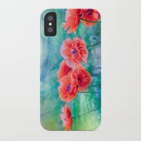 poppies iPhone & iPod Cases featuring Poppies by LudaNayvelt