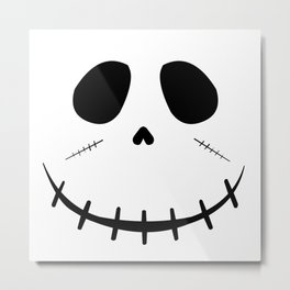 Zombie Face Metal Print
