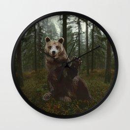 Bear Waving Hello Wall Clock
