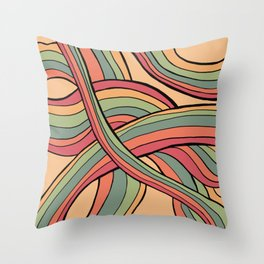 Rolling Waves Of Peachy Panic Throw Pillow