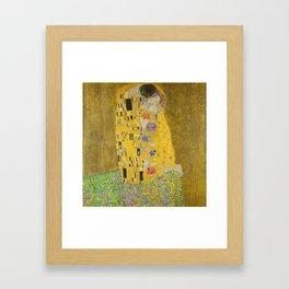 """Gustav Klimt """"The Kiss"""" Framed Art Print"""