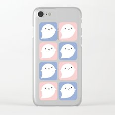 Kawaii Little Ghosts Clear iPhone Case