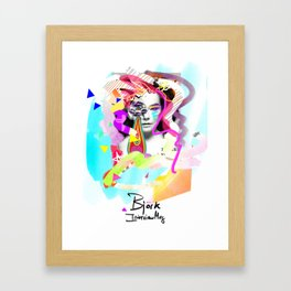 Bjork, Interview Mag Cover remixed Framed Art Print