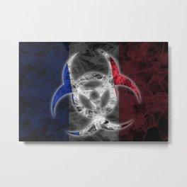 Biohazard France, Biohazard from France, France Quarantine Metal Print