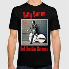 Rockin' Billy Burns Black SMALL Mens Fitted Tee
