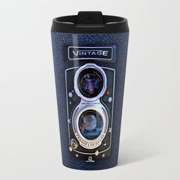 Vintage black double lens camera iPhone 4 5 6 7 8 x, pillow case, mugs and tshirt Travel Mug