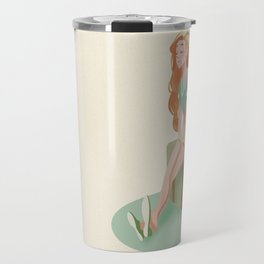 The girl in the suitcase - ( No background imgen) Travel Mug