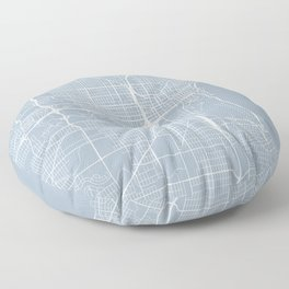 Milwaukee Map, USA - Slate Floor Pillow