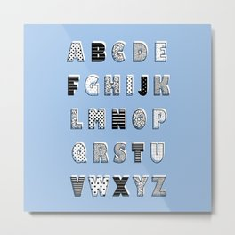 ABC Blue Metal Print