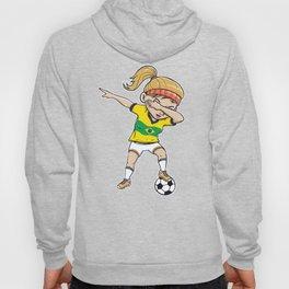 Dabbing Soccer Player Funny Brazil Fan product girl Hoody