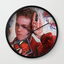 Painting Illustration Of Warren From The Cult Classic Movie Empire Records Wall Clock