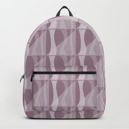 Simple Geometric Pattern 2 in Musk Mauve Backpack