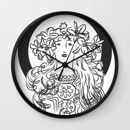 Mucha's Inspiration Wall Clock