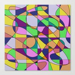 Pastel Pieces Canvas Print