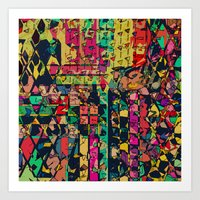 carnival Art Prints featuring Carnival by Glanoramay