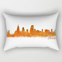 Chicago City Skyline Hq v2 Rectangular Pillow