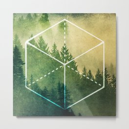 The Elements Geometric Nature Element of Earth Metal Print