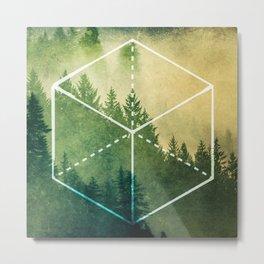 The Elements Geometric Nature Element of Earth Metal Print