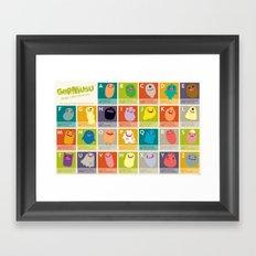 Germ Inspired Alphabet Framed Art Print