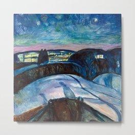Edvard Munch - Starry Night Metal Print