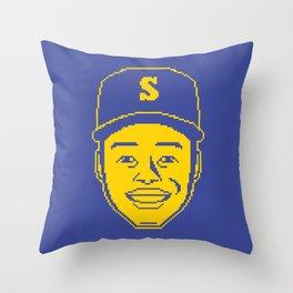 Ken Griffey Jr. Pixel Throw Pillow