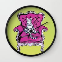 lime Wall Clocks featuring Lime by Rebel June