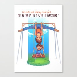 Pole Friends - Like Kids in the Playground Canvas Print