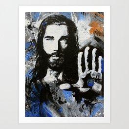 Living Proof Jesus Painting Art Print