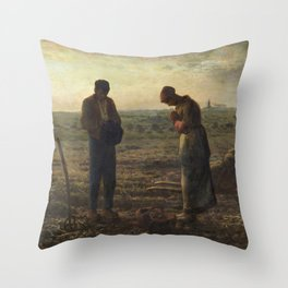 The Angelus by Jean Francois Millet Throw Pillow