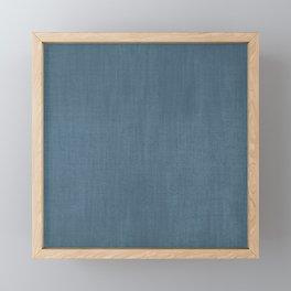 Blue Indigo Denim Framed Mini Art Print
