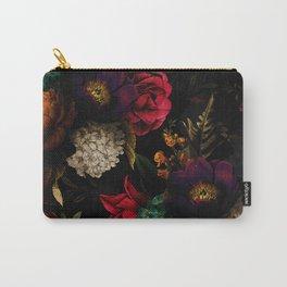 Midnight Hours Dark Vintage Flowers Garden Carry-All Pouch