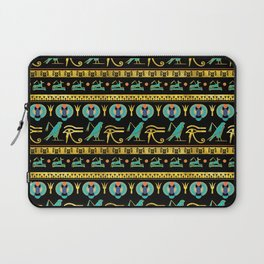 Egyptian  Ornament Symbols Pattern Laptop Sleeve