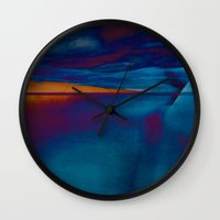 skyline Wall Clocks featuring Skyline by Stephen Linhart