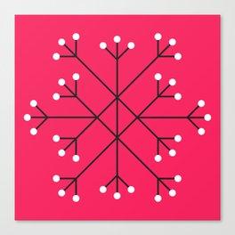 Mod Snowflake Hot Pink Canvas Print