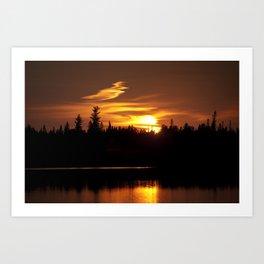 Northern Sunset 001 Art Print