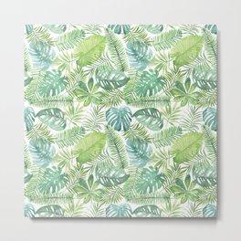 Tropical Branches Pattern 08 Metal Print