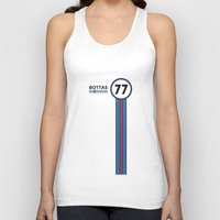 f1 Tank Tops featuring F1 2015 - #77 Bottas by MS80 Design