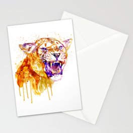 Angry Lioness Stationery Cards