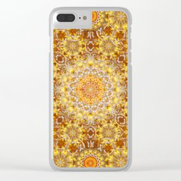 Golden Visions Mandala Clear iPhone Case