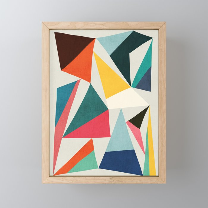 Collection of pointy summit Framed Mini Art Print