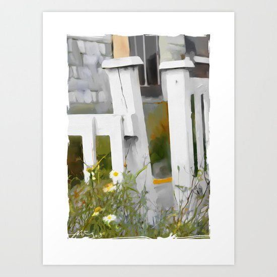 Don't Pick The Daisies !! Art Print