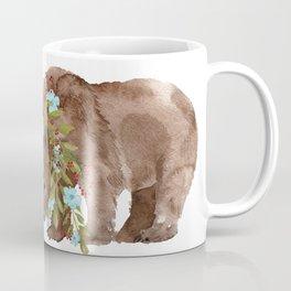 Bear with flower boa Coffee Mug