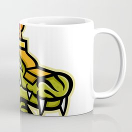Sobek Egyptian God Mascot Coffee Mug