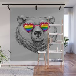 Pride Heart Wall Mural