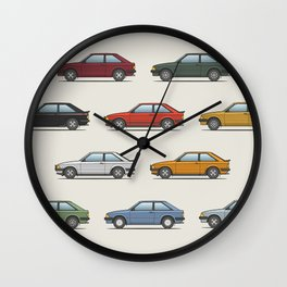 Ford Escort Mk3 XR3i - Car Print Wall Clock